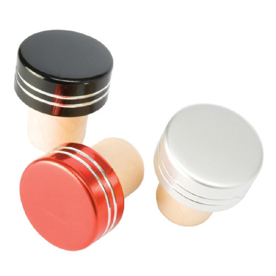 Metallic Bottle Stoppers in Assorted Colors by True