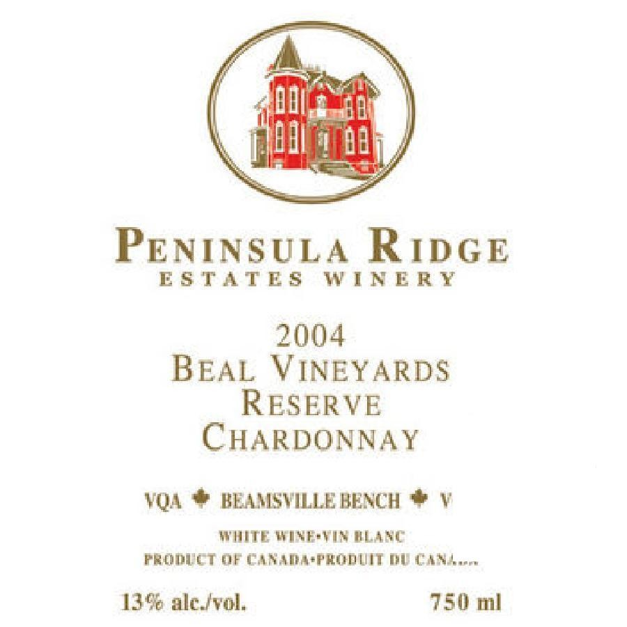 Beal Vineyards Reserve Chardonnay VQA by Peninsula Ridge 2009