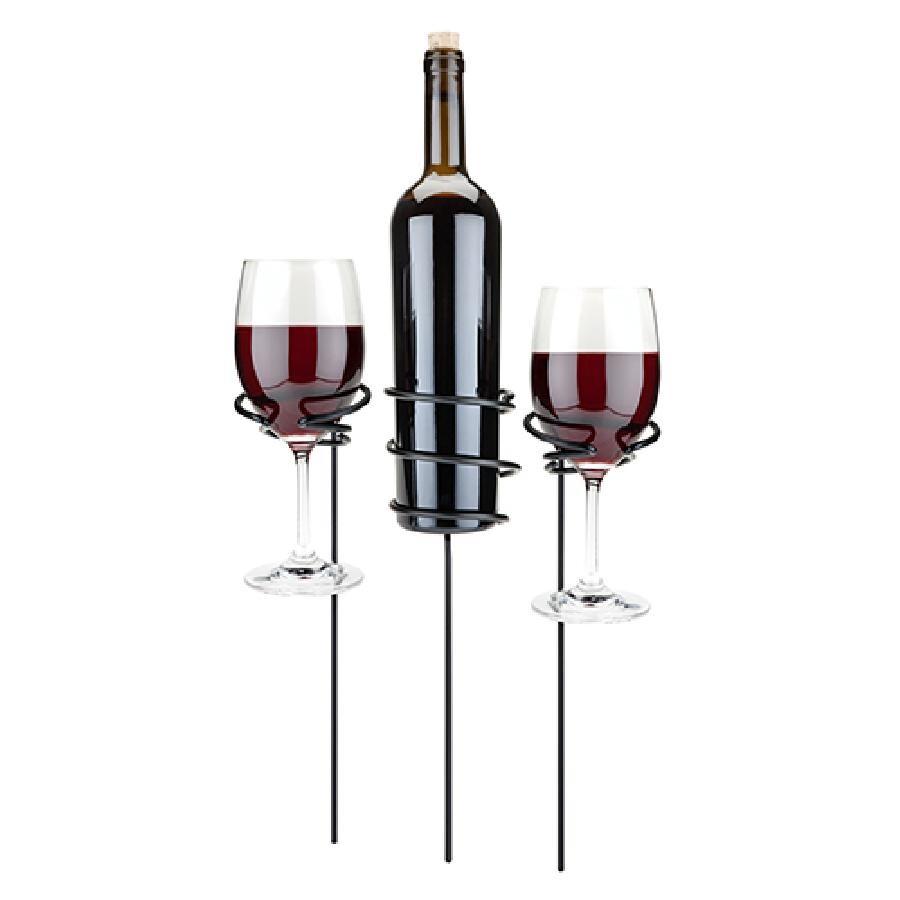 Picnic Stix™ Wine Glass & Bottle Holders
