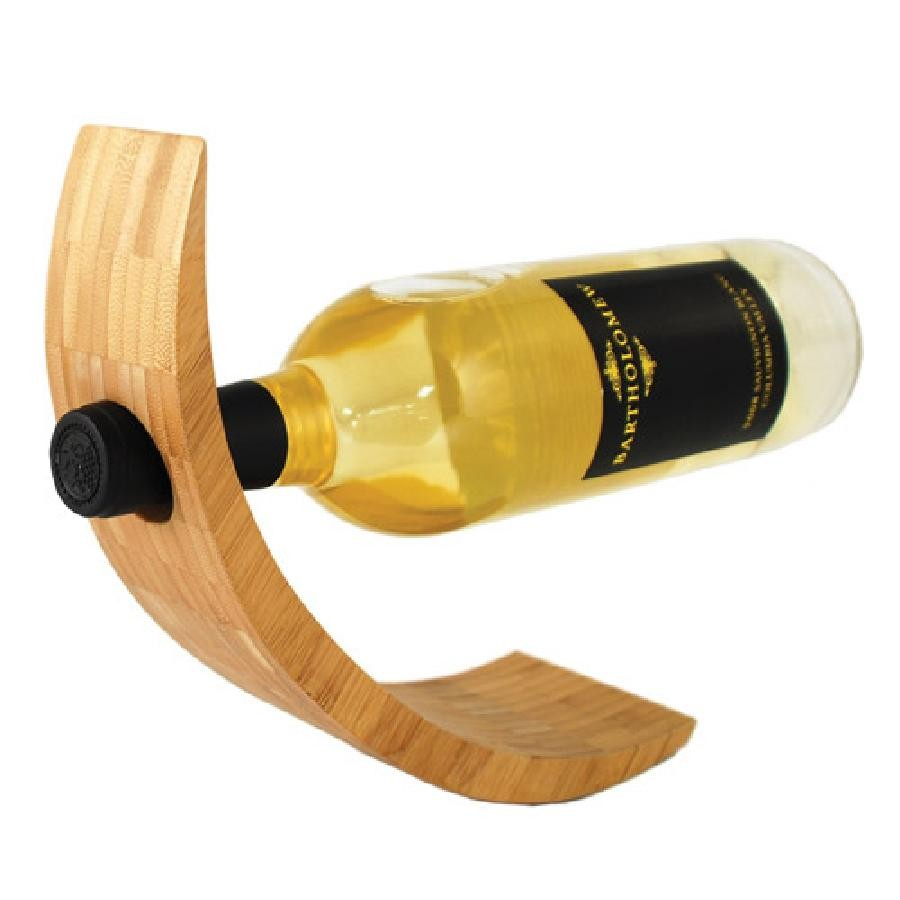 Crescent Bamboo Bottle Holder by True