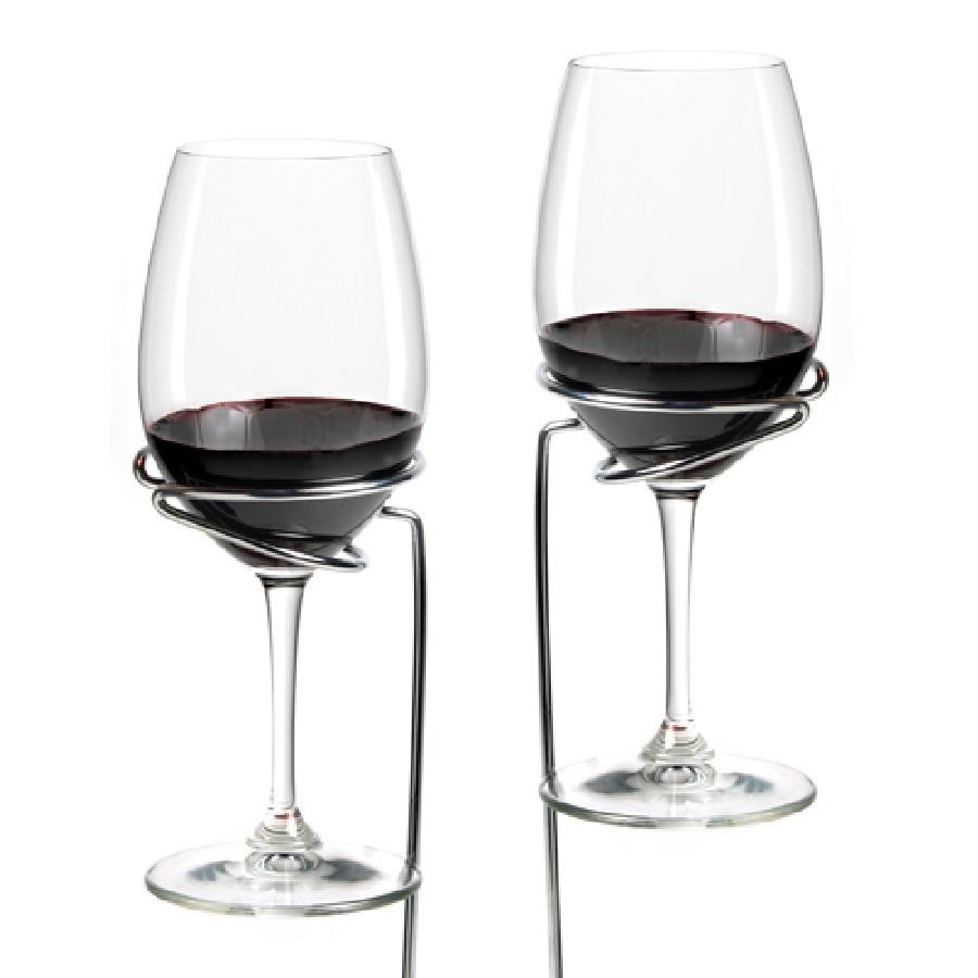Picnic Stix Set of 2 Wine Glass Holders by True
