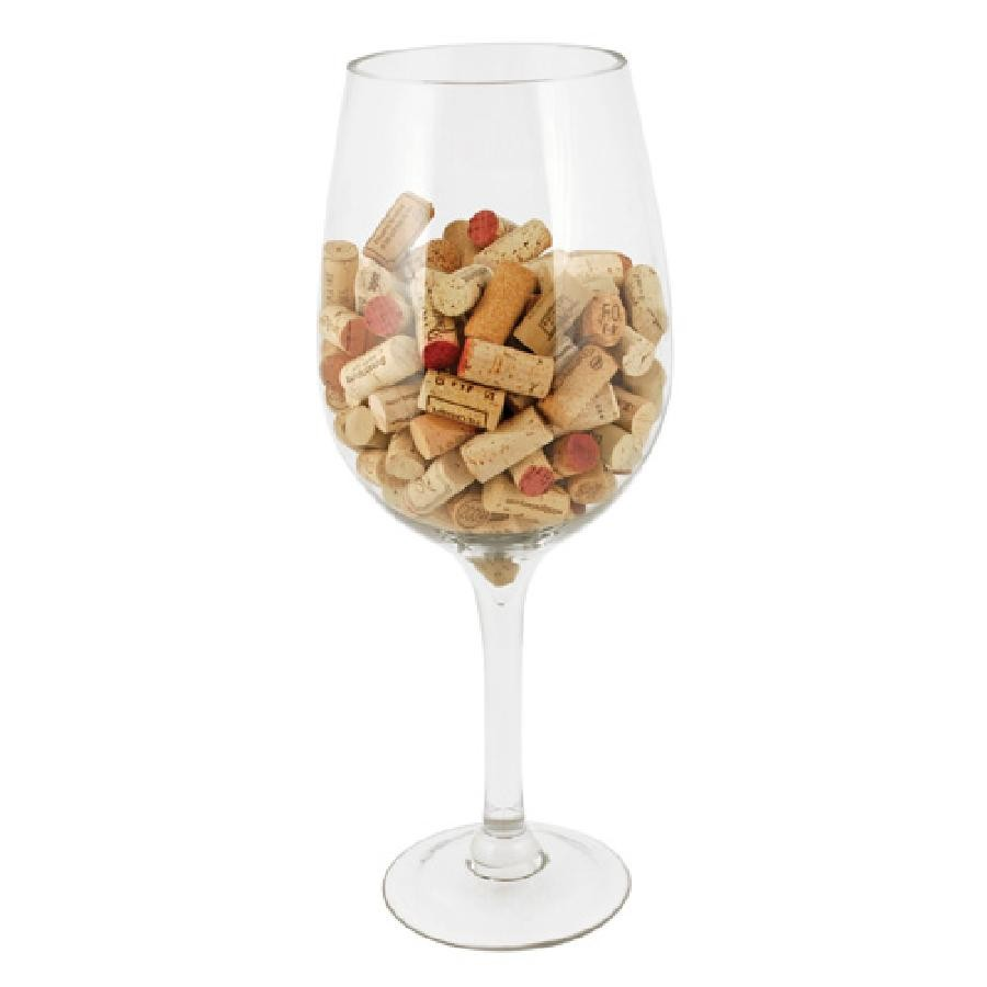 Big Bordeaux Glass Cork Holder by True