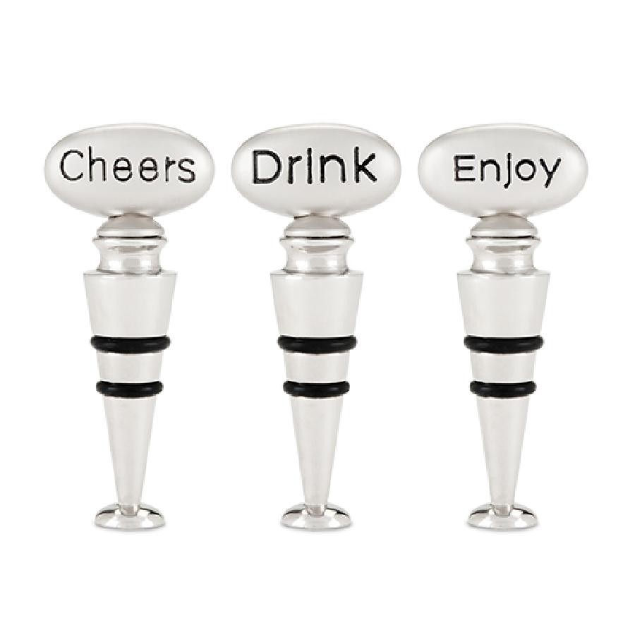 Pebble™ Stone Bottle Stopper Assortment by True