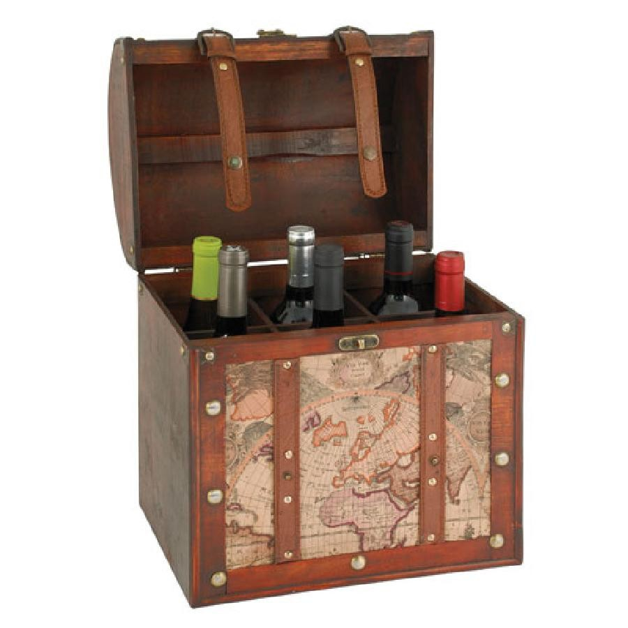Chateau 6 Bottle Old World Wine Box