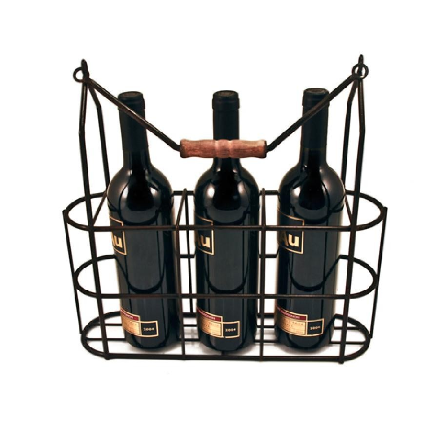 Rustic Farmhouse Vintage 3 Bottle Carrier