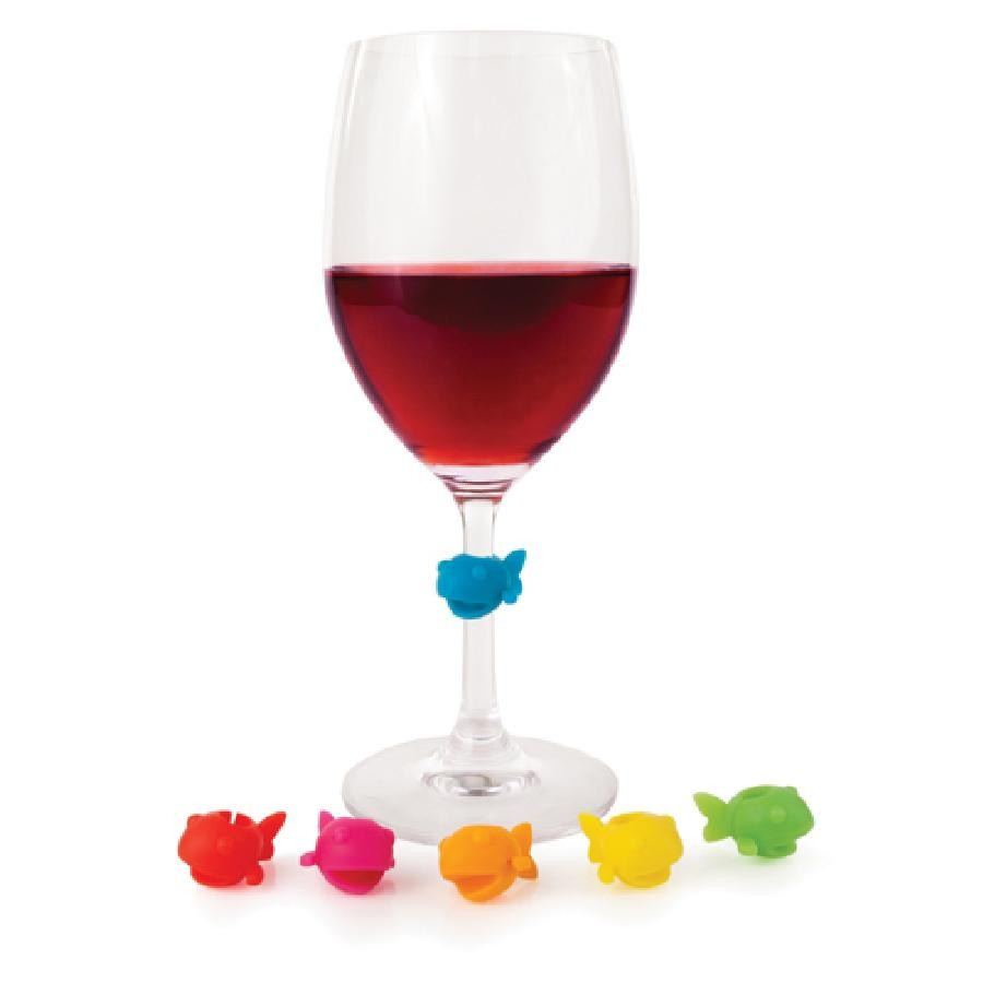 Guppy™ Silicone Wine Charms