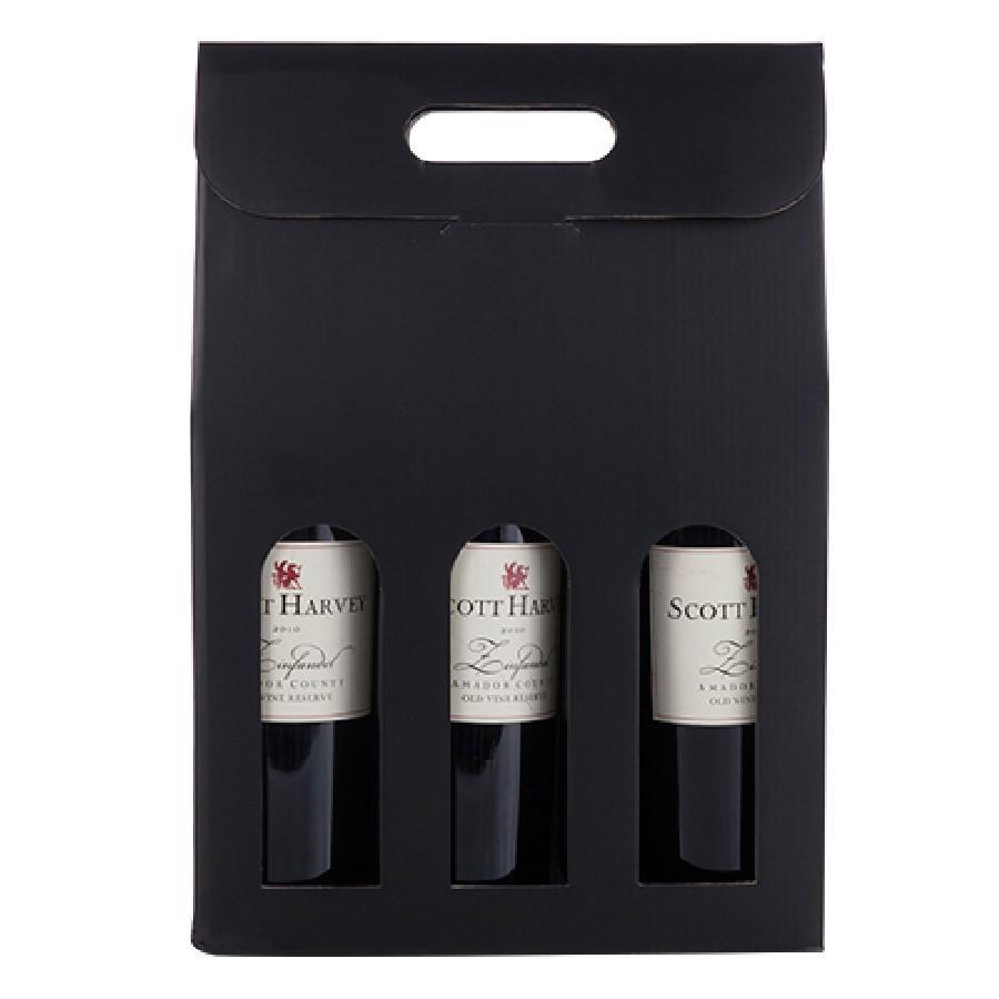 Marketplace Black 3-Bottle Carrier