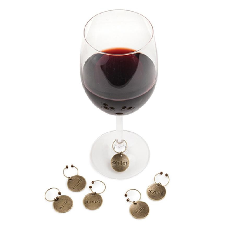 Chateau™ Varietal Metal Wine Charms by Twine