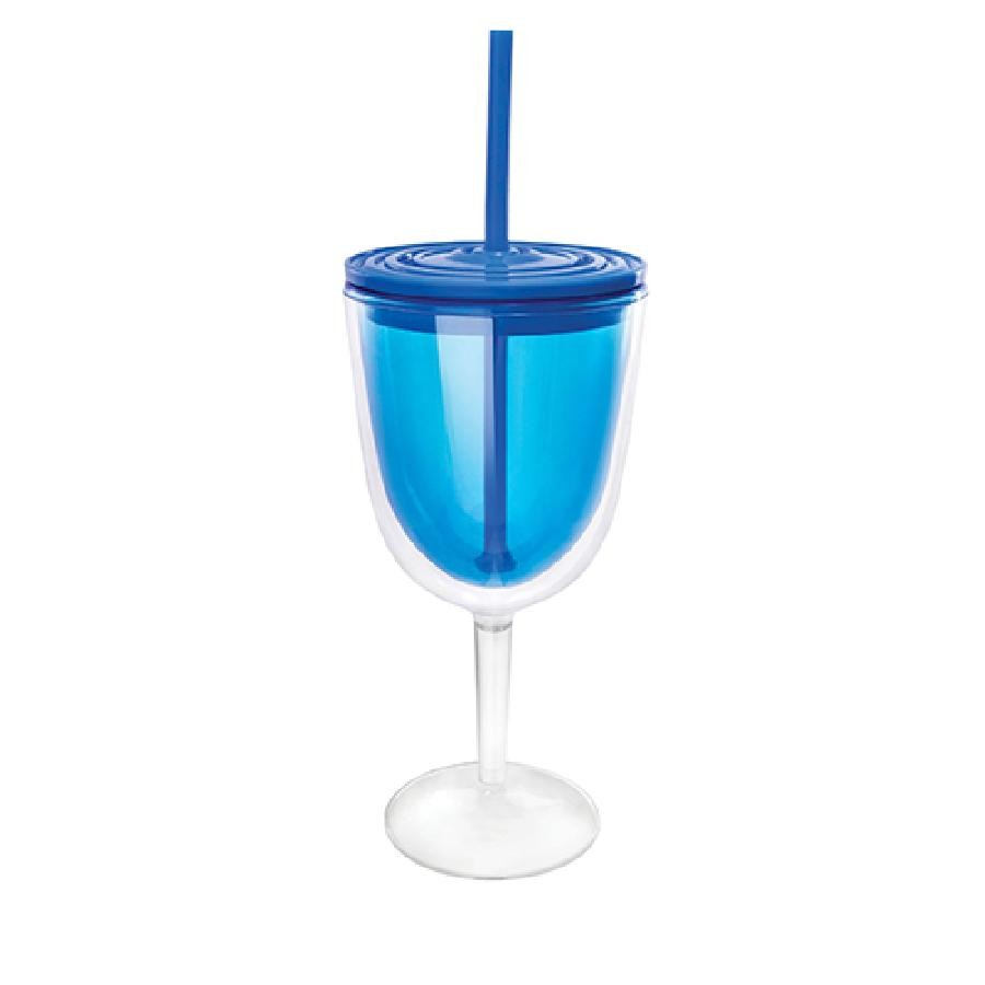 Cruise 14.5 Ounce Blue Double Wall Wine Cup by True