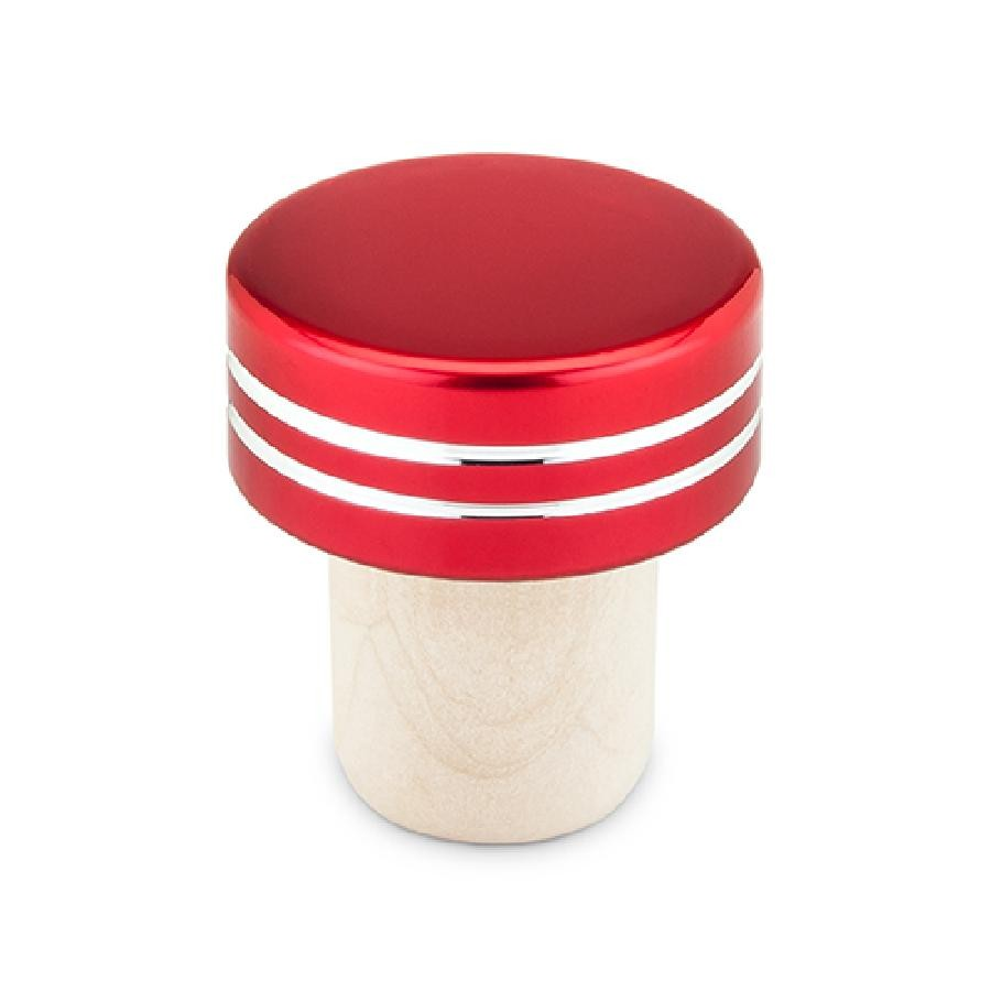 Red Metallic Bottle Stoppers by True