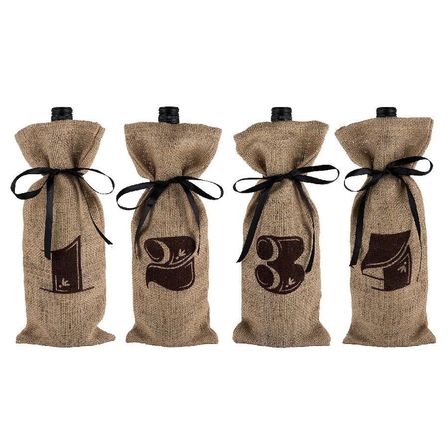 Marketplace - Jute Bag Wine Tasting Kit by Twine