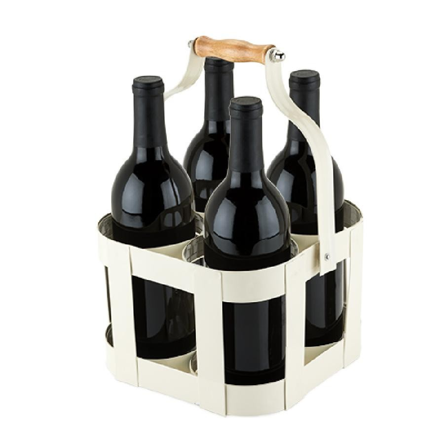 Rustic Farmhouse™ Vintage 4 Bottle Carrier by Twine