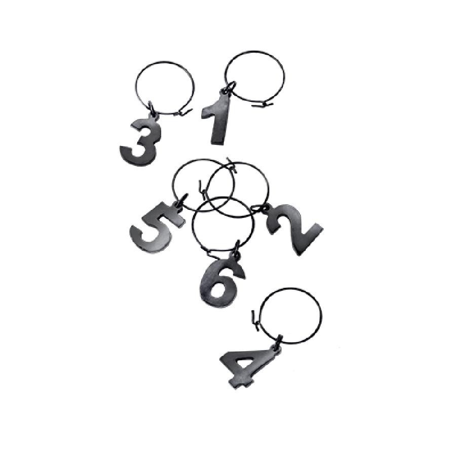 Warren Gunmetal Black Wine Charms (VISKI)