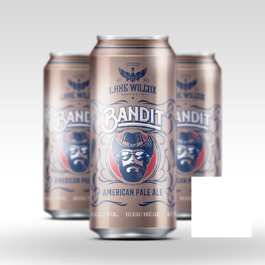 Bandit American Pale Ale (APA) Craft Beer 473ml Cans by Lake Wilcox Brewing Co.