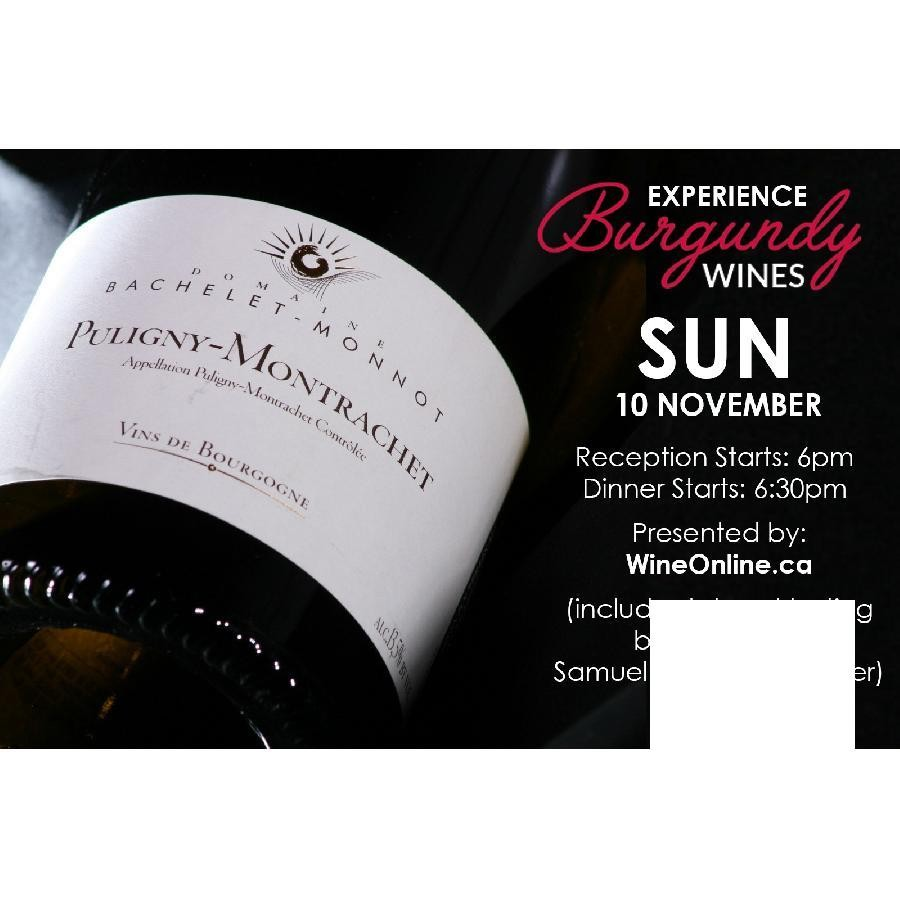 Domaine Bachelet-Monnot: Intimate Burgundy Tasting + Dinner at Jacob's Steakhouse Toronto - General Admission (Sunday November 10, 2019)