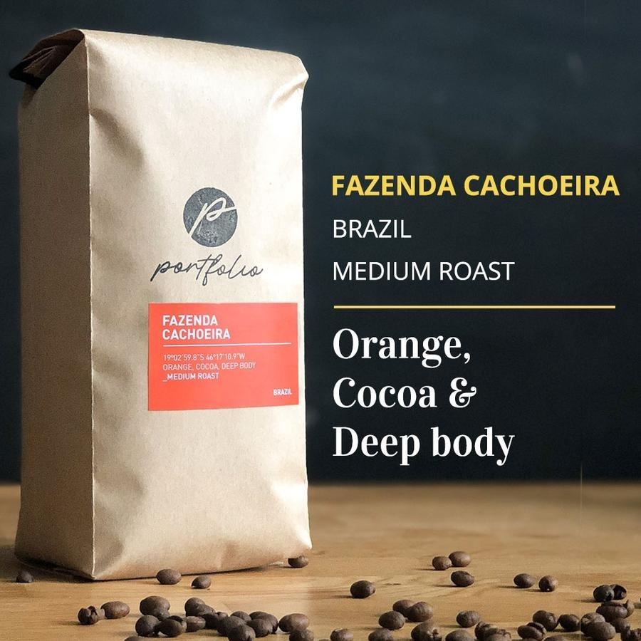 Fazenda Cachoeira Single-Origin Brazilian Coffee (1lb) Medium Roast by Portfolio Coffee Roasters