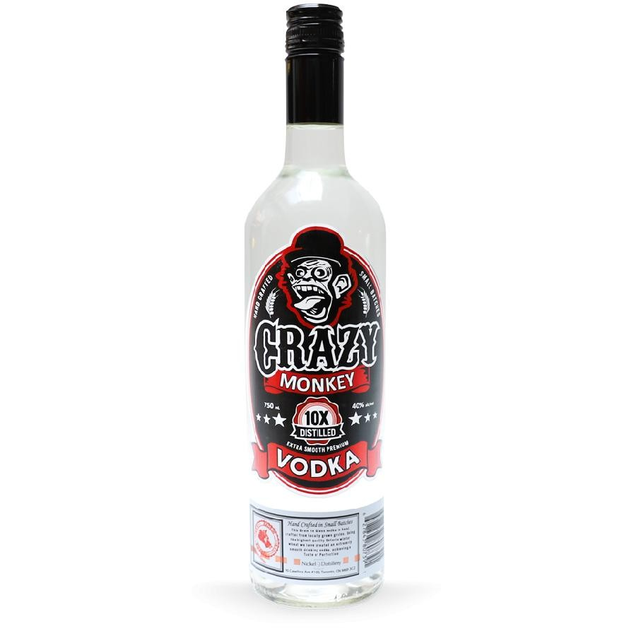 Crazy Monkey Vodka 750mL by Nickle9