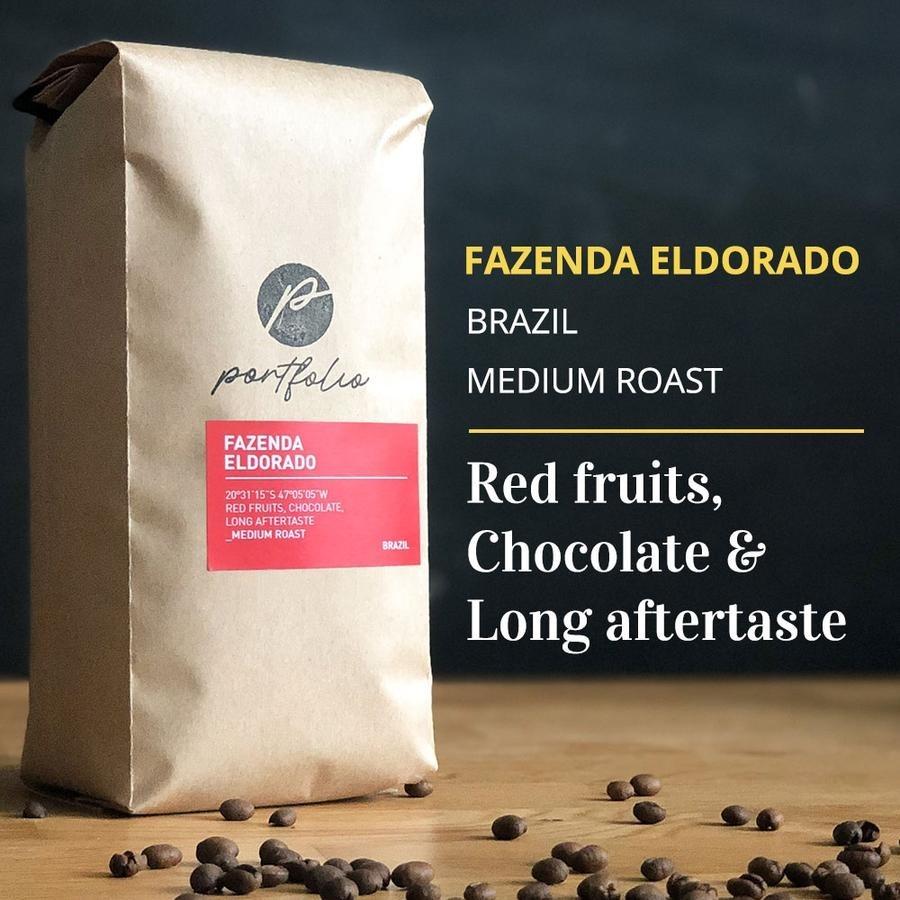 Fazenda Eldorado Single-Origin Brazilian Coffee (1/2lb) Medium Roast by Portfolio