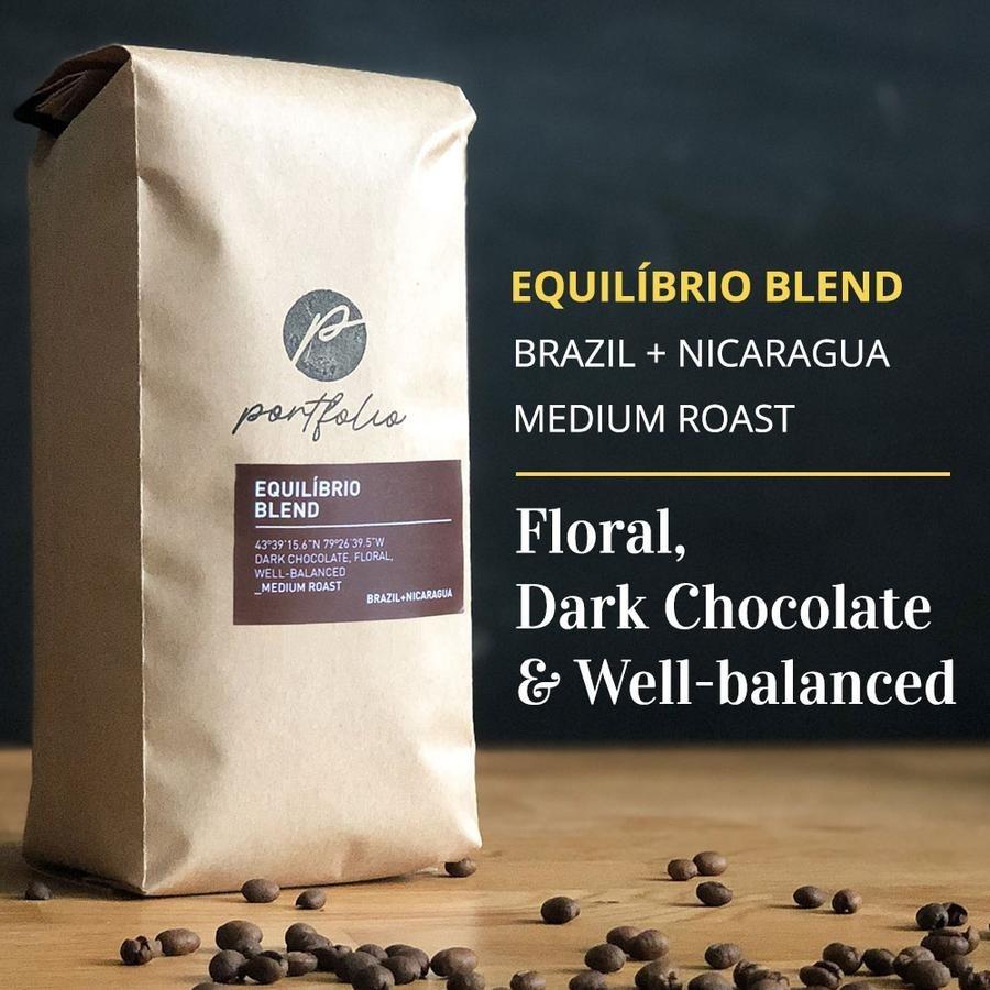 Equilibrio Brazilian Nicaraguan Coffee (1lb) Medium Roast by Portfolio