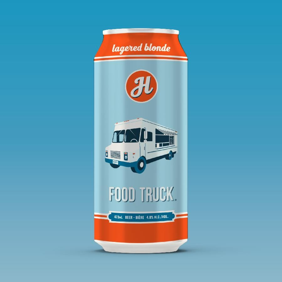 Food Truck Blonde Ale Beer (473ml Can) 24 Pack by Henderson Brewing Co.