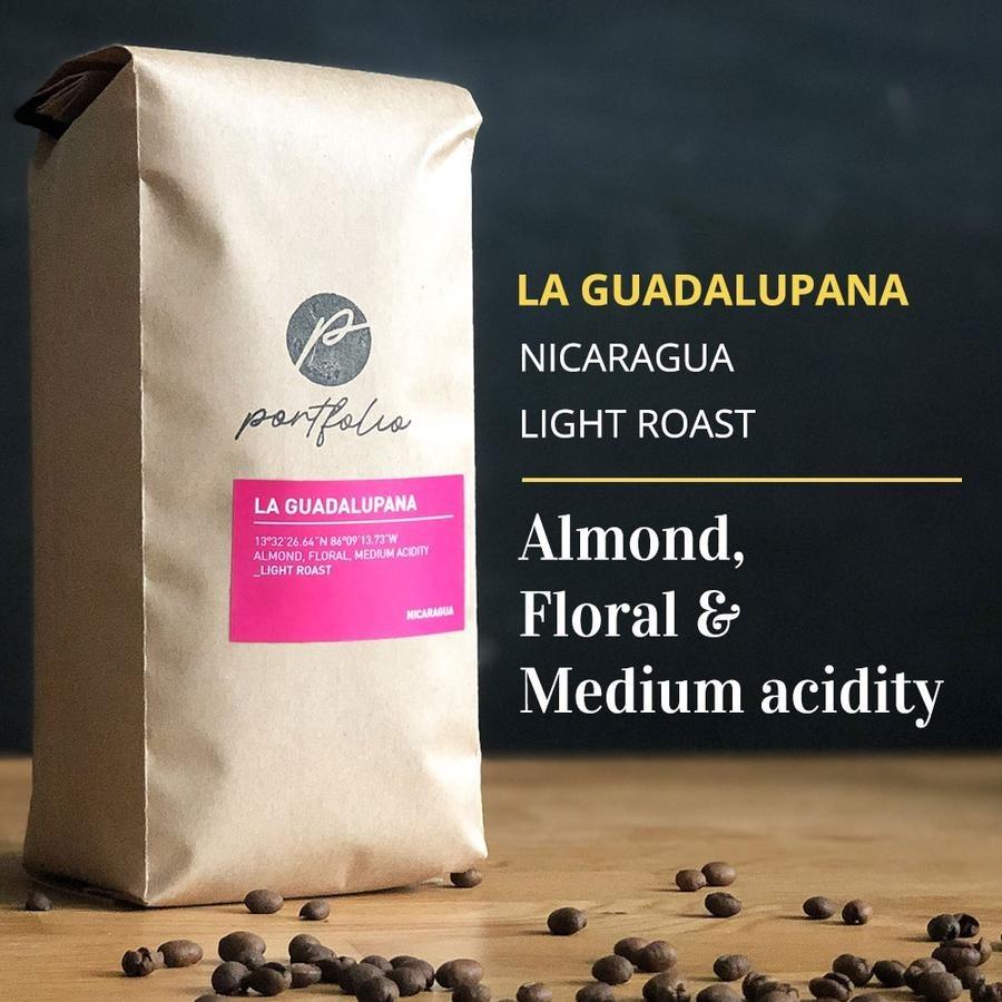 La Guadalupana Single Origin Nicaraguan Coffee (1/2lb) Light Roast by Portfolio Coffee Roasters