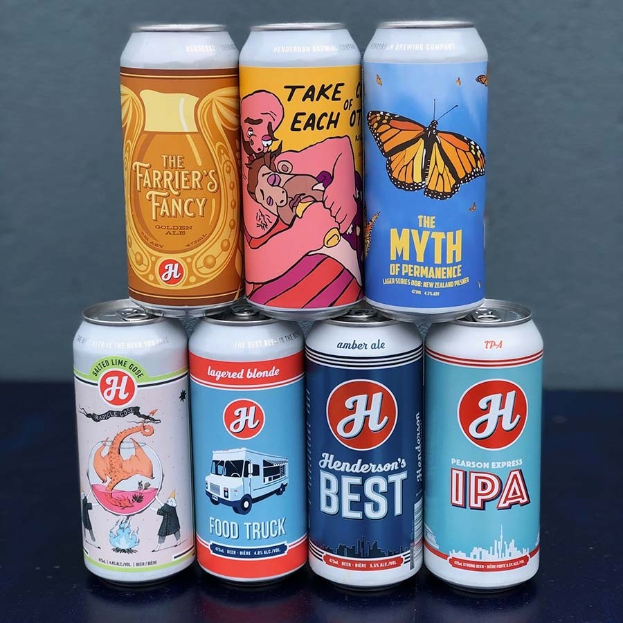 Exclusive Henderson Brewing Co. Mixed Beer 24 Pack (473ml Cans)
