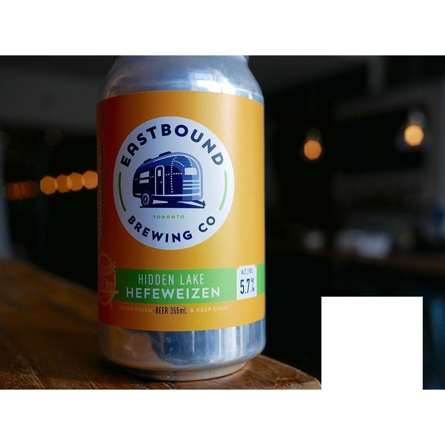 Hidden Lake Hefeweizen German-style Wheat Ale Craft Beer by Eastbound Brewing Co.