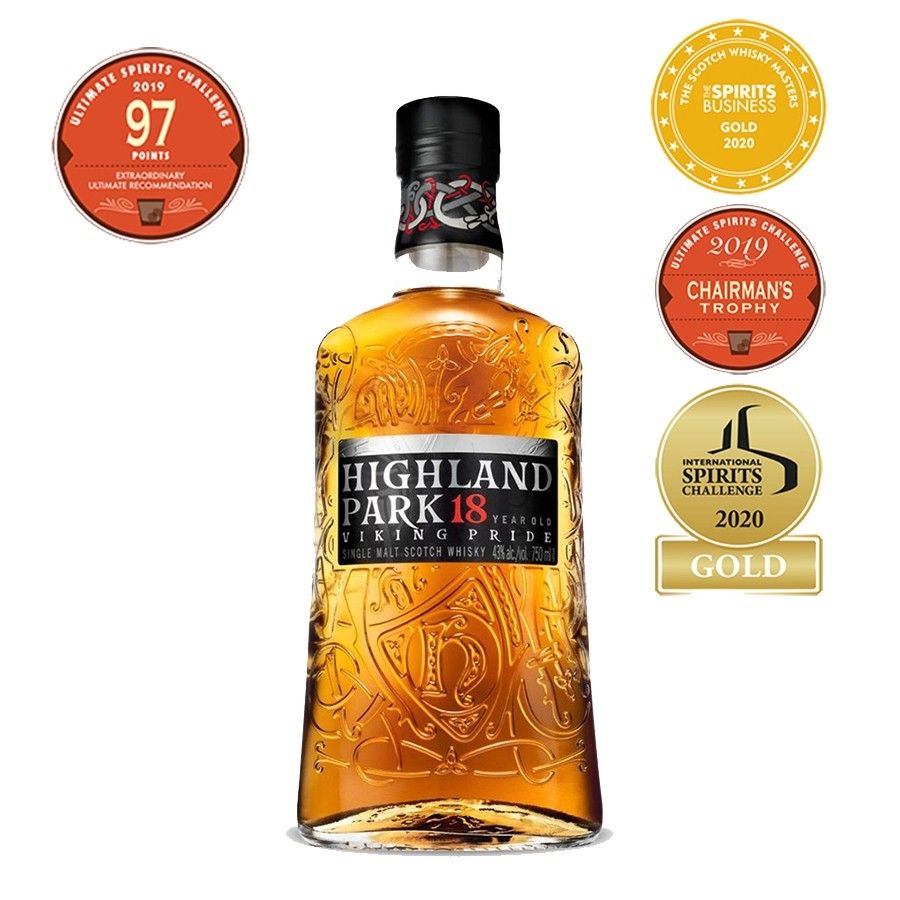 Highland Park 18 Year Old Single Malt Scotch Whisky 750mL