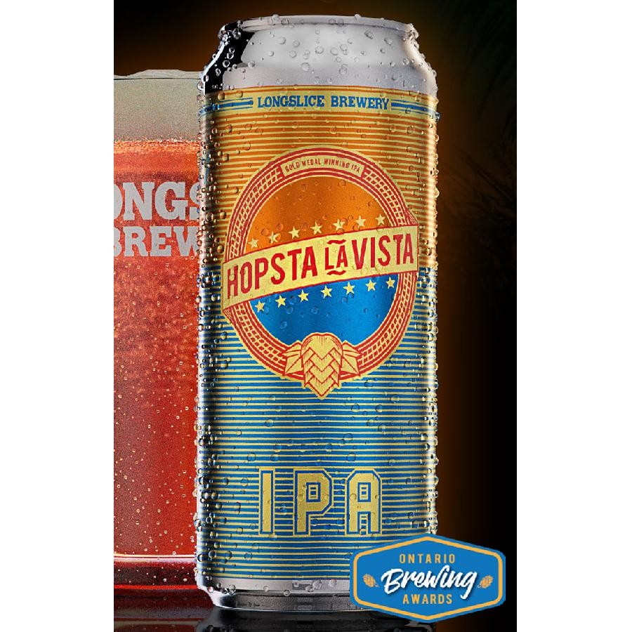 Hopsta La Vista IPA Beer (473 ml Cans) 24 Pack by Longslice Brewery
