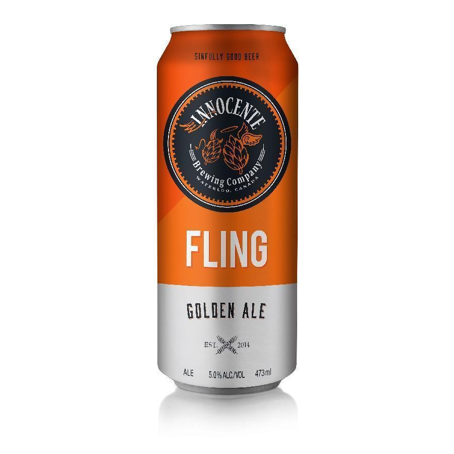 Fling Golden Ale Craft Beer by Innocente Brewing Company