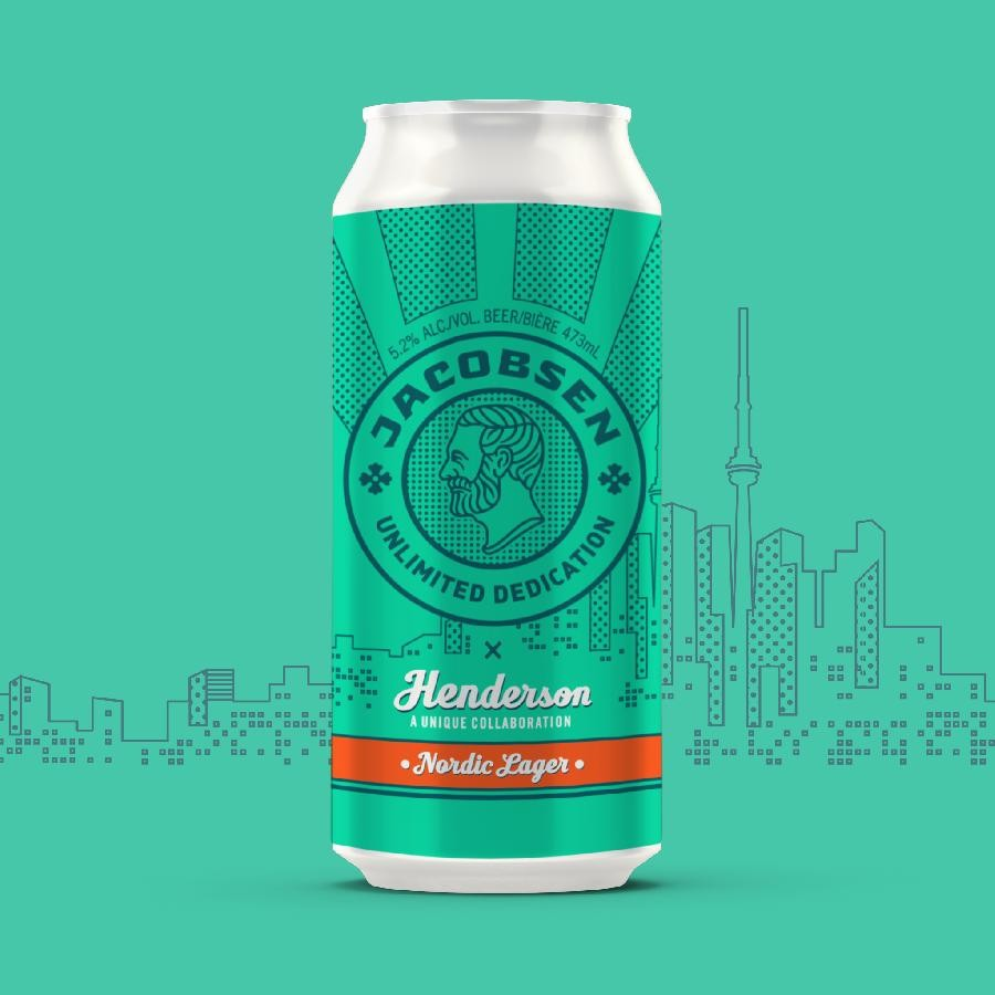 Jacobsen x Henderson Nordic Lager Beer (473ml Can) 24 Pack by Henderson Brewing Co.