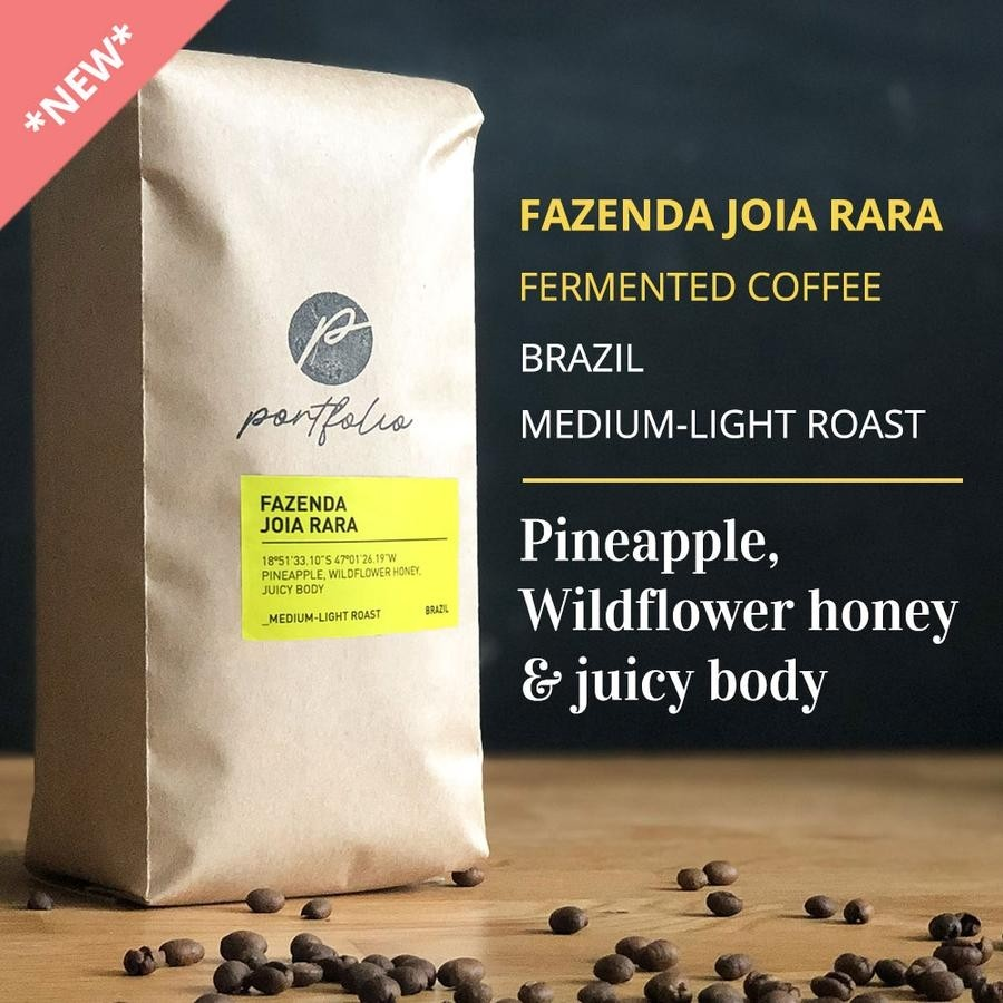 Fazenda Joia Rara Fermented Brazilian Coffee (1/2lb) Medium-Light Roast by Portfolio