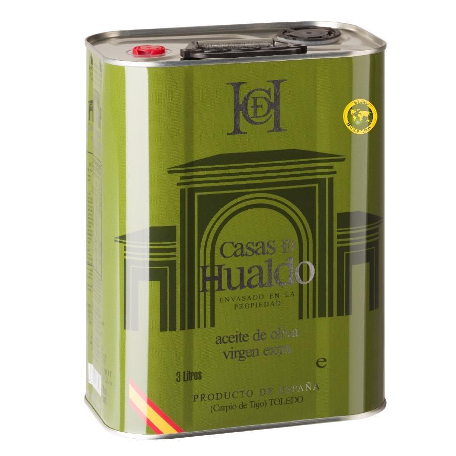 EVOO Gentle Extra Virgin Olive Oil 3L Can by Casas de Hualdo