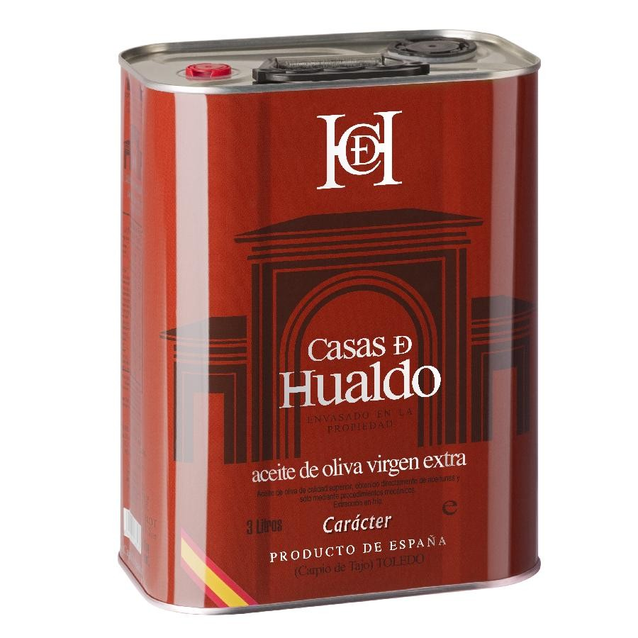 EVOO Character Extra Virgin Olive Oil 3L Can by Casas de Hualdo