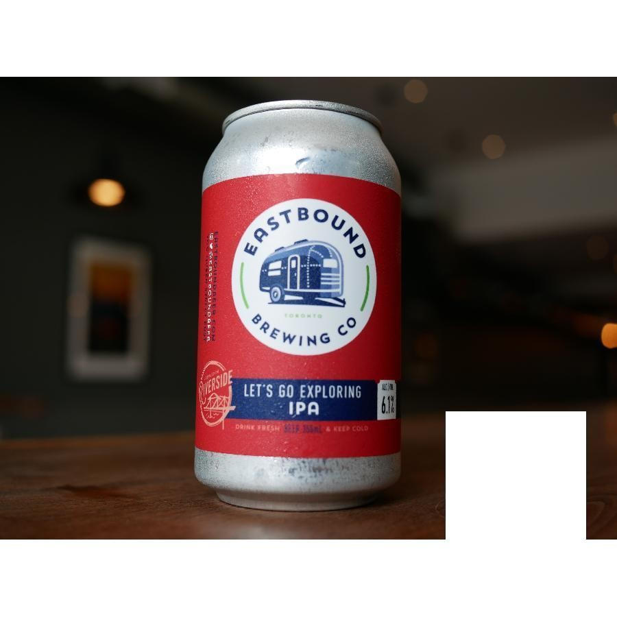Let's Go Exploring IPA India Pale Ale Craft Beer by Eastbound Brewing Co.
