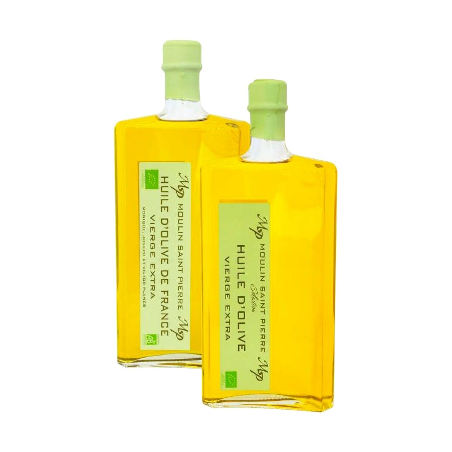 Organic Extra Virgin Olive Oil by Moulin St-Pierre France (500ml)