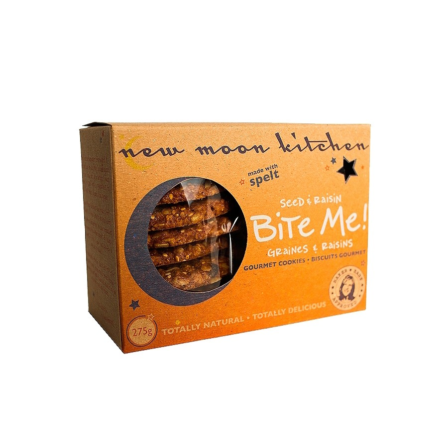 Gourmet Vegan Seed Oat Raisin Cookies Made With Spelt by New Moon Kitchen