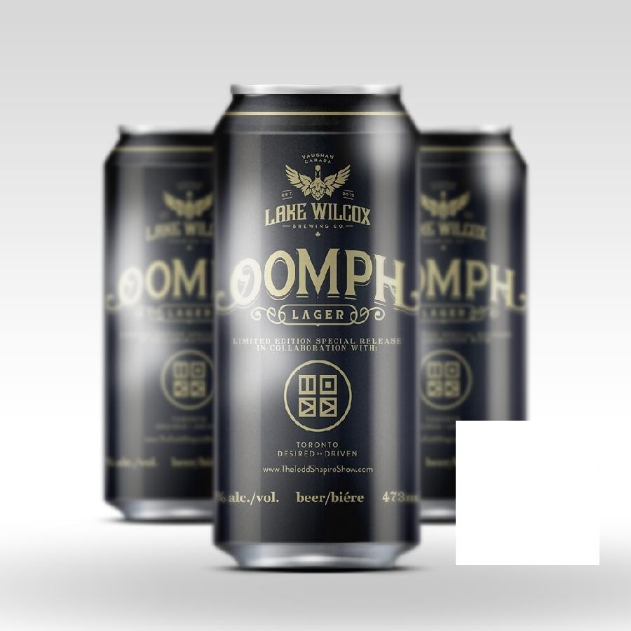 Oomph Lager Craft Beer 473ml Cans by Lake Wilcox Brewing Co & SiriusXM Radio Personality Todd Shapiro