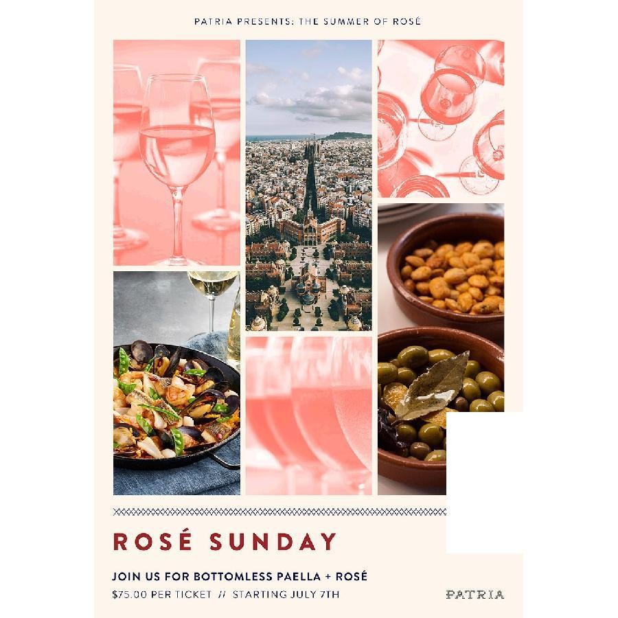 Patria Presents: Rosé Sunday's (includes BOTTOMLESS PAELLA + ROSÉ) - General Admission 1