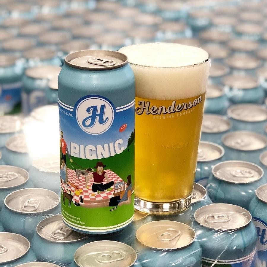 Picnic Beer (473ml Can) 24 Pack by Henderson Brewing Co.