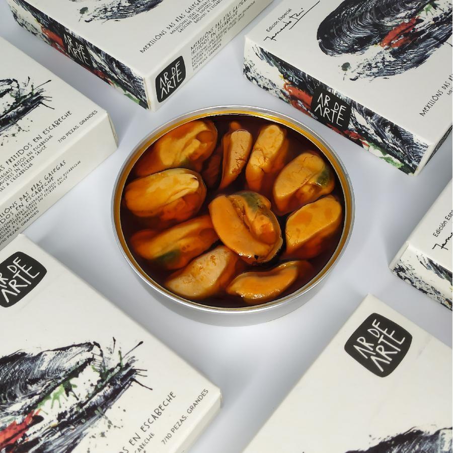 Ar De Arte Galician Fried Mussels in Pickled Sauce (110g) Fernando Rei Special Edition