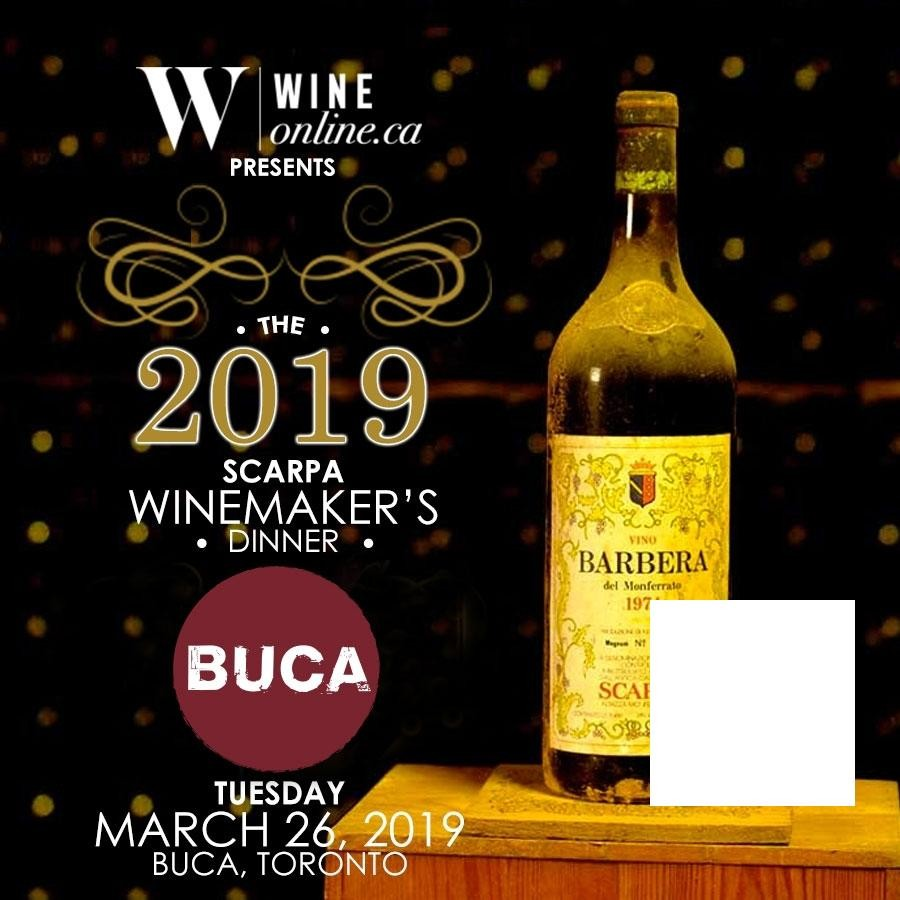 Scarpa Winemaker's Dinner: Wine Tasting at Buca Toronto - General Admission (March 26, 2019)