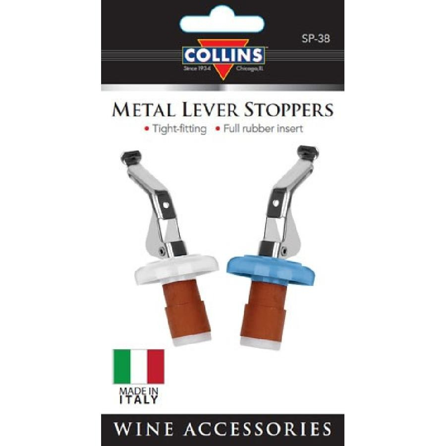 Carded Italian lever stoppers