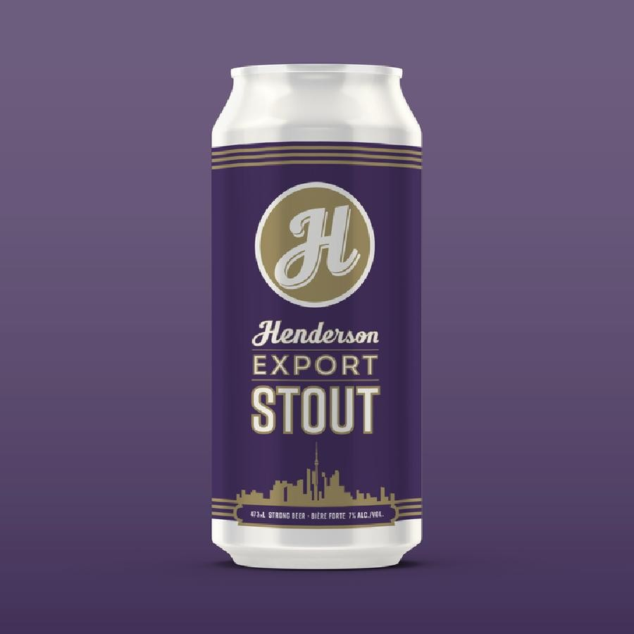 Export Stout Beer (473ml Can) 24 Pack by Henderson Brewing Co.