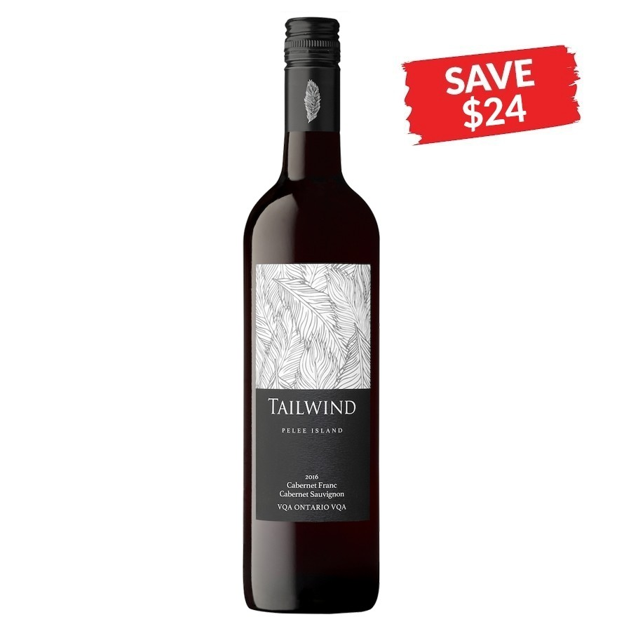 Tailwind Reserve Cabernet Franc Cabernet Sauvignon VQA by Pelee Island Winery 2016 (SAVE $24/CASE)