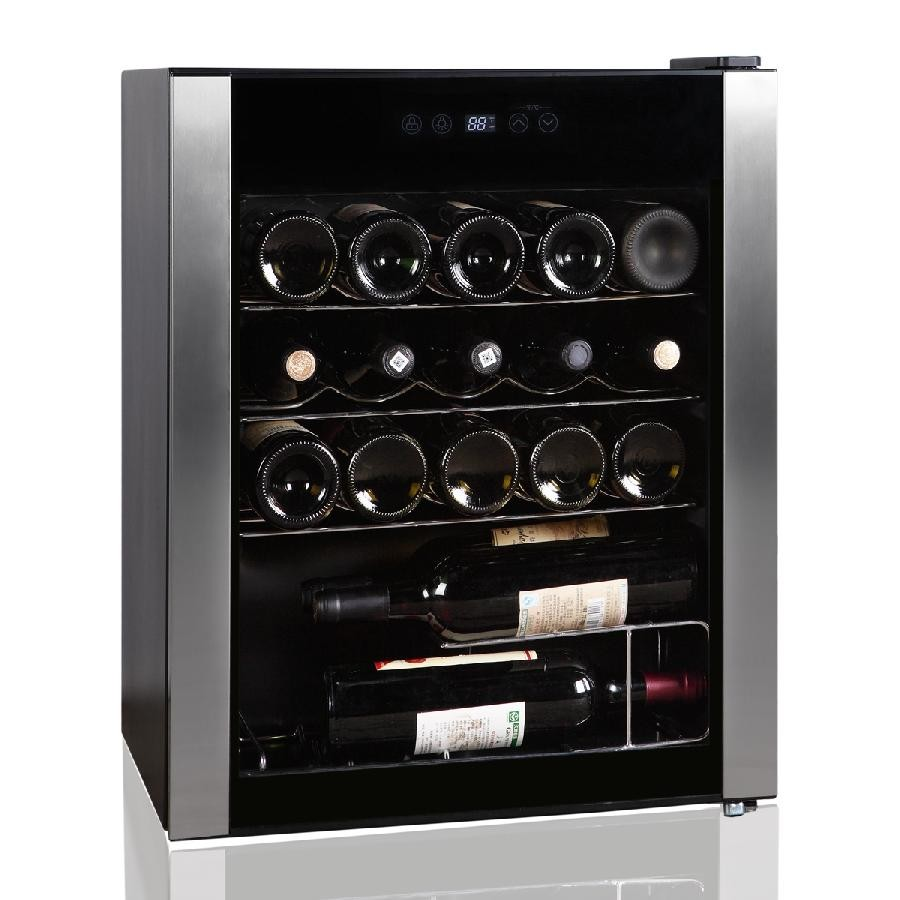 Dual Temperature Zone 24 Bottle Wine Cooler HS-86WE by Midea