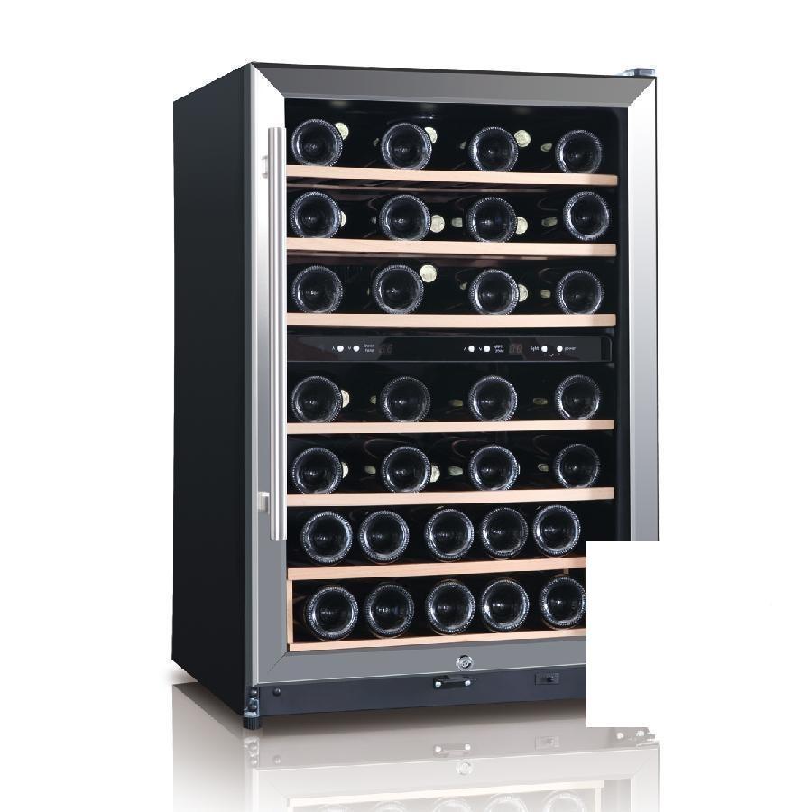 Dual Temperature Zone 45 Bottle Wine Cooler Fridge WHS-168WE1 by Midea
