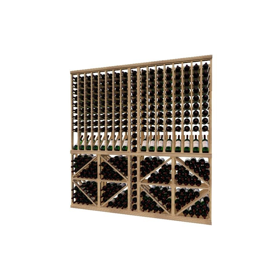 Classic Wood Wine Storage Rack 324 Bottle Capacity (Easy Self Assembly) by La Vieille Garde