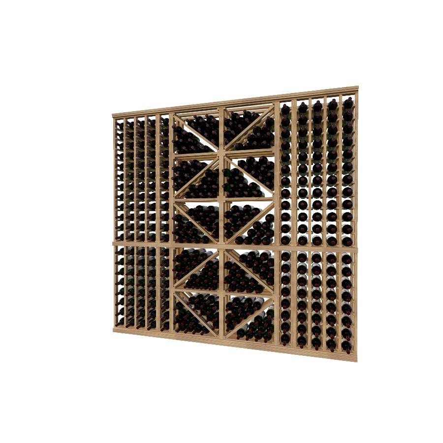 Classic Wood Wine Storage Rack 380 Bottle Capacity (Easy Self Assembly) by La Vieille Garde