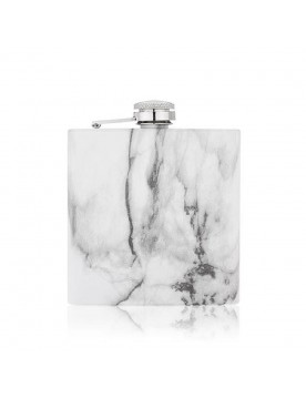 Marble 6oz Stainless Steel Flask by True Fabrications